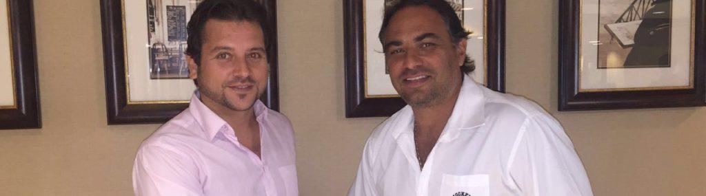Pablo Mendoza con Gianni Delucchi
