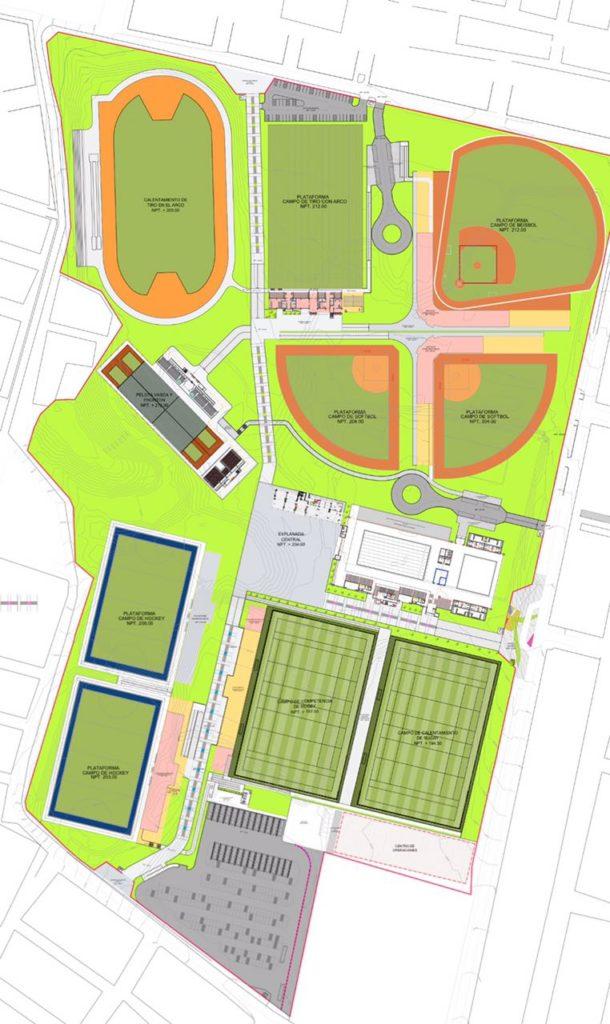 Diseño del Complejo Deportivo de Villa María del Triunfo.